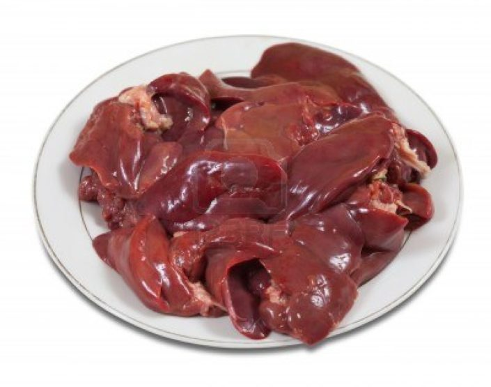 Raw chicken livers