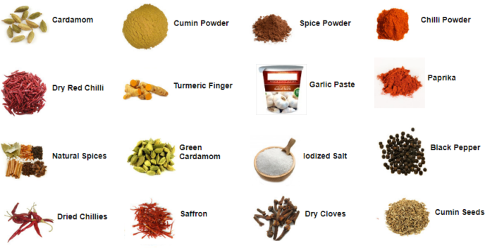 Whole cooking spices